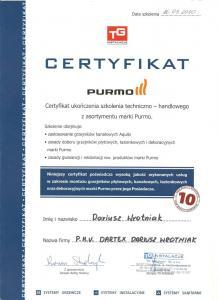 Certyfikat Purmo